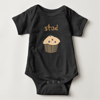 T-shirt Bodysuit bonito do bebê do muffin do parafuso