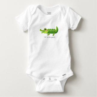 T-shirt Bodysuit do bebê - ATÉ NÃO BOM - CROCODILO do BEBÊ