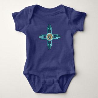 T-shirt Bodysuit do bebê do nativo americano da pata de