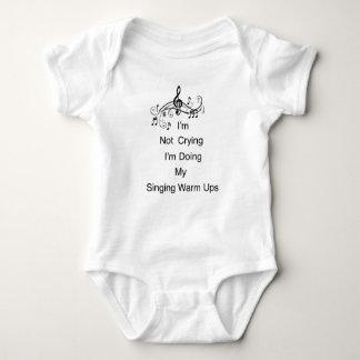T-shirt Bodysuit do jérsei do bebê do canto da música