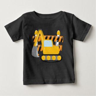 T-shirt bonito da construção dos bebés