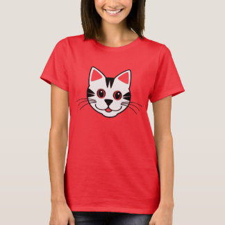 T-shirt bonito do gato do smiley