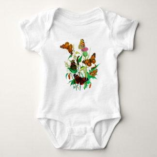 T-shirt Borboletas do leopardo & lagartas & cardo