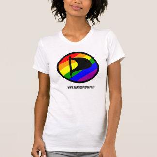 T-shirt branca - Rainbow - Feminina