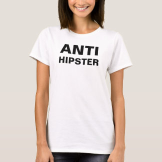 T-shirt branco simples do anti hipster