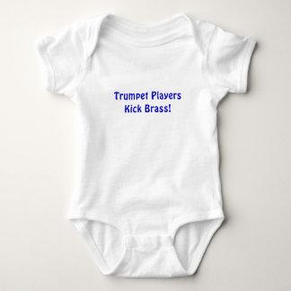 T-shirt Bronze do pontapé dos jogadores de trombeta