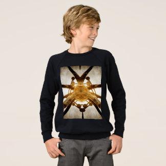 T-shirt Camisola americana do Raglan do roupa dos miúdos