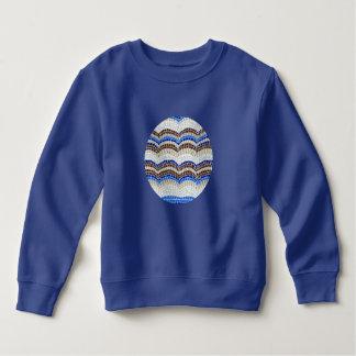 T-shirt Camisola azul da criança do mosaico
