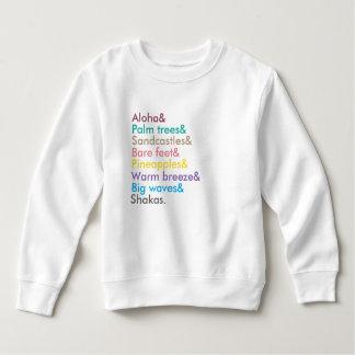 T-shirt camisola das meninas aloha