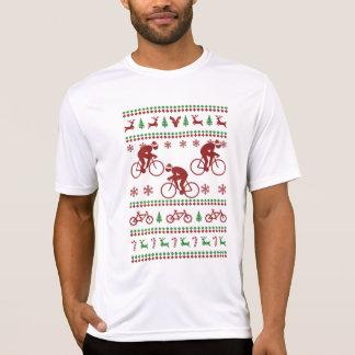 T-shirt Camisola feia de ciclagem do Natal