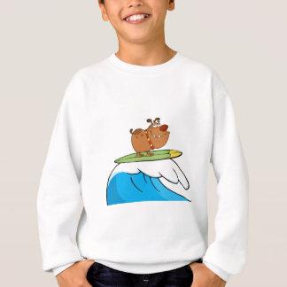 T-shirt Cão feliz ao surfar