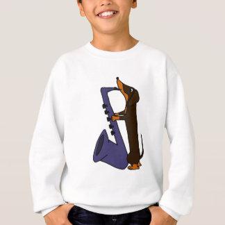 T-shirt Cão impressionante do Dachshund que joga o