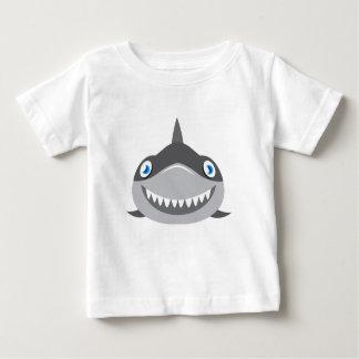 T-shirt cara feliz bonito do tubarão