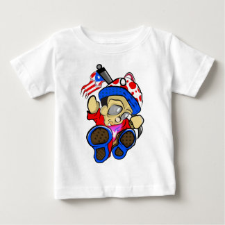T-shirt Caráter bonito de Puerto Rico com bandeira