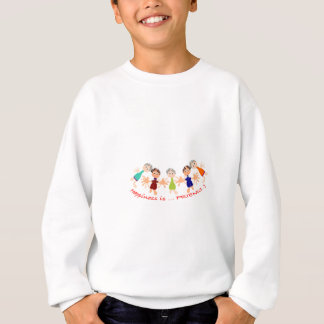 T-shirt Caráteres gráficos com texto Happiness_is_Friends