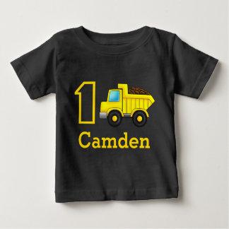 T-shirt Carro do caminhão da construção do primeiro