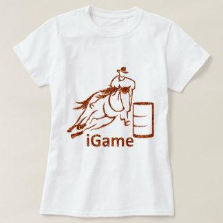 T-shirt cavalo de competência do tambor do iGame