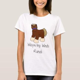 T-shirt Cavalo dos desenhos animados, rancho de sussurro