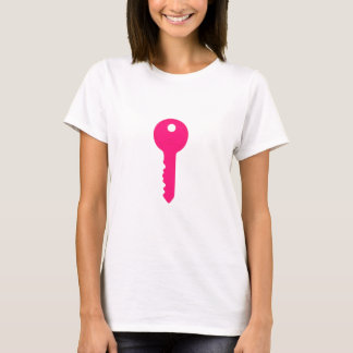 T-shirt Chave cor-de-rosa