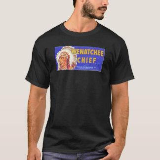 T-shirt Chefe de Wenatchee - etiqueta da caixa da fruta do