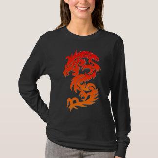 T-shirt chinês do fogo do dragão