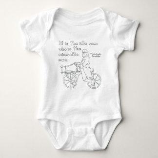 T-shirt Citações de Ben Franklin na bicicleta