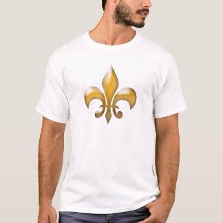 T-shirt clássico da flor de lis do ouro
