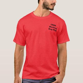 T-shirt Clube do cão de funcionamento de CSRA