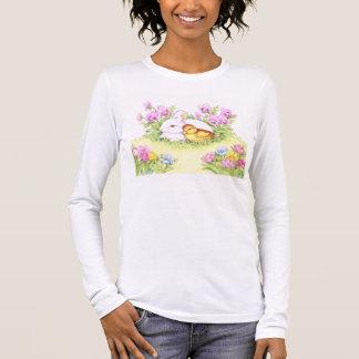 T-shirt Coelhinho da Páscoa, patinho e flores