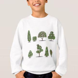 T-shirt Coleção aparada do arbusto da árvore estilizado