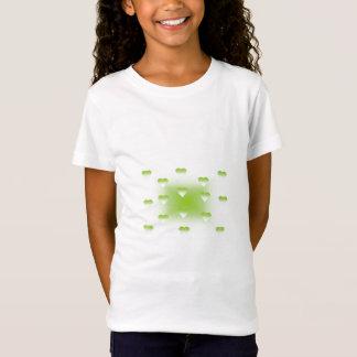 T-shirt colorido dos corações do amor