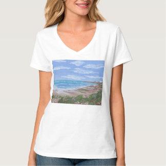 T-shirt com cena da praia