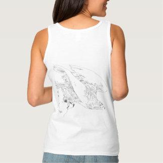 T-shirt com Eagle na caneta e na tinta