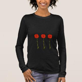 T-shirt com flores da papoila