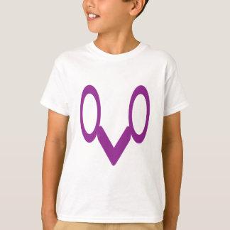 t-shirt com símbolos do divertimento acima abaixo