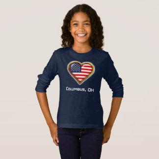 T-shirt Coração americano
