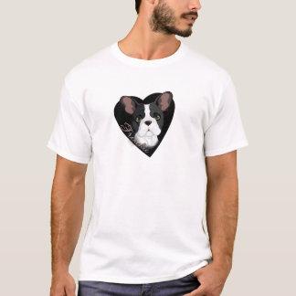 T-shirt Coração de Frenchie
