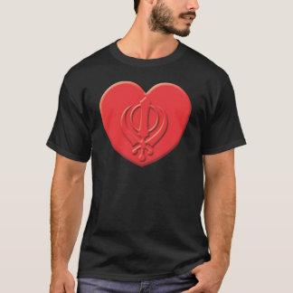 T-shirt Coração do Sikhism