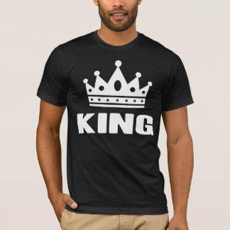 T-shirt Coroa do rei um cor