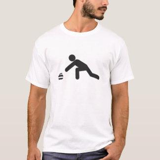 T-shirt Corrediça de ondulação