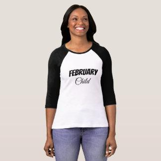 T-shirt Criança de fevereiro