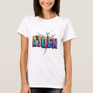 T-shirt Cume name Aiden with! as j