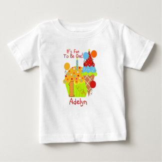 T-shirt Cupcakes e divertimento do sorvete a ser um