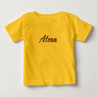 T-shirt curto amarelo da luva para Alexa