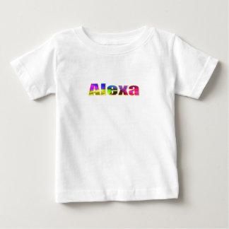 T-shirt curto da luva de Alexa
