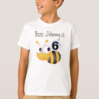 T-shirt customizável do aniversário do zangão do