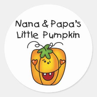 T-shirt da abóbora de Nana e de papá poucos