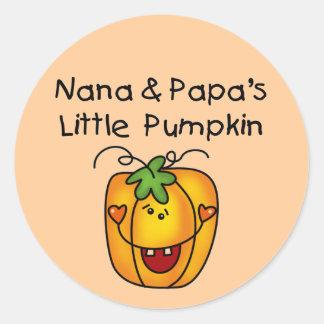 T-shirt da abóbora de Nana e de papá poucos Adesivo