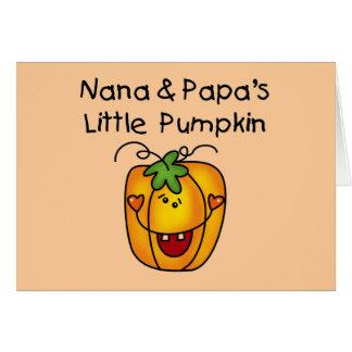 T-shirt da abóbora de Nana e de papá poucos Cartoes