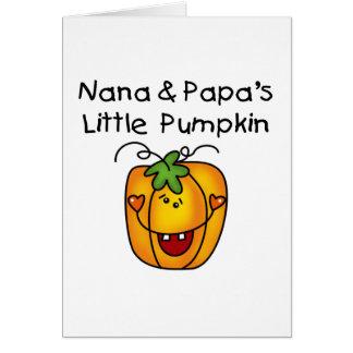 T-shirt da abóbora de Nana e de papá poucos Cartão Comemorativo